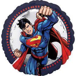 Ballon aluminium rond Superman™ 43 cm Déco festive 3553201