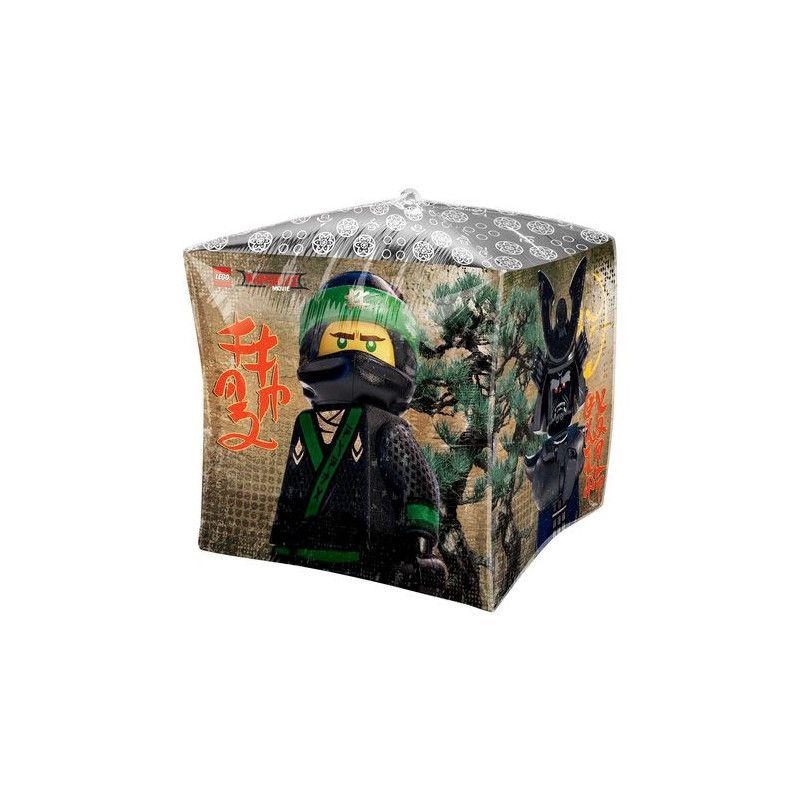 Ballon aluminium cube Lego Ninjago™ 38 cm Déco festive 3614001