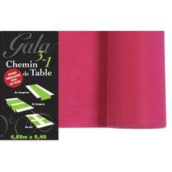Sachet en carton à pois roses pour dragées x 10