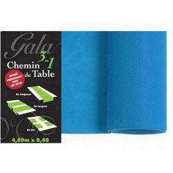 Sachet en carton à pois bleus pour dragées x 10
