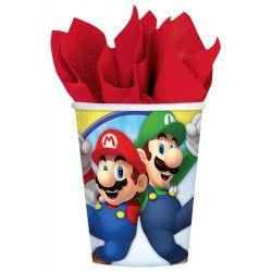 Gobelets anniversaire Super Mario x 8 Déco festive 9901537
