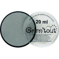 Accessoires de fête, Fard maquillage Argent Métallique galet 20 ml, GT41205, 7,90€