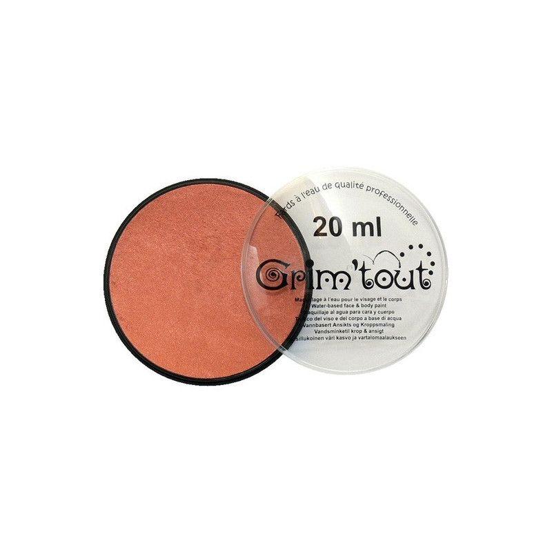 Fard maquillage Cuivre Métallique galet 20 ml Accessoires de fête GT41206
