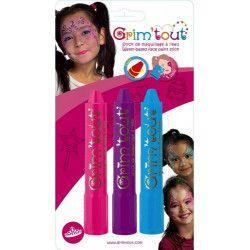 Accessoires de fête, Blister 3 sticks maquillage Princesse, GT41821, 6,50€