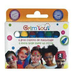 Accessoires de fête, Boite 6 gros crayons de maquillage à l'eau, GT41948-, 8,90€