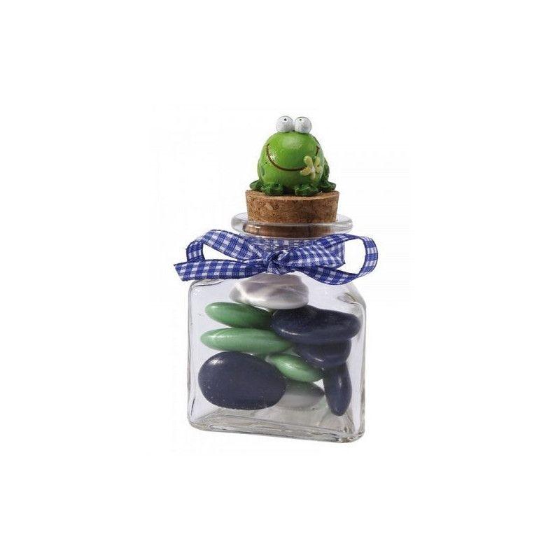 Pot en verre 3 faces avec bouchon en liège Cake Design 15402