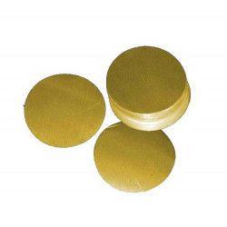 Déco festive, Sachet 100 gr confettis de scène rond métal or, 22371, 9,90€