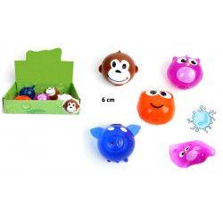 Balle splash animal 6 cm vendue par 12 Jouets et articles kermesse 22016-LOT