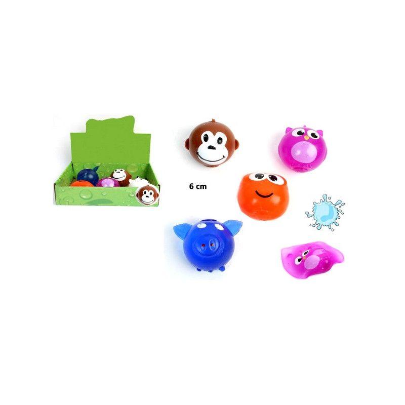 Balle splash animal 6 cm vendue par 12 Jouets et kermesse 22016-LOT
