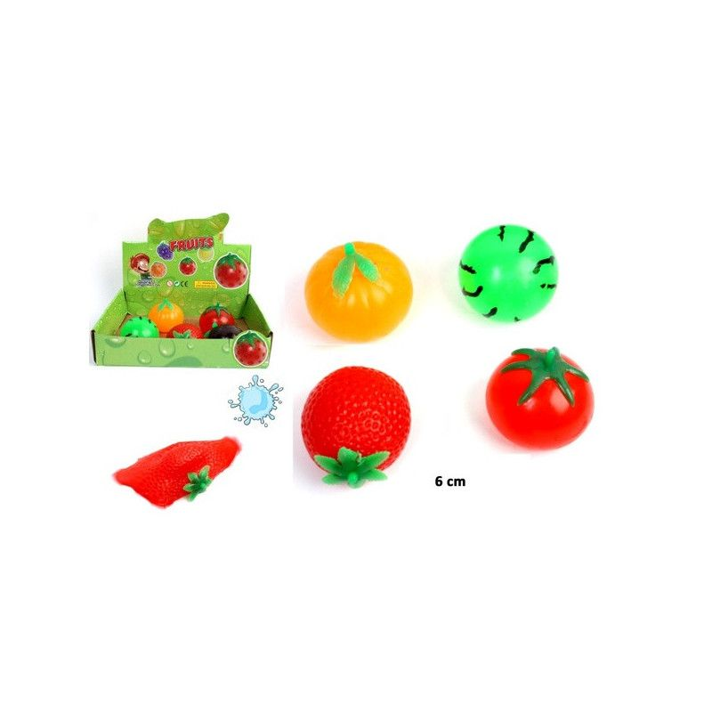 Balle splash fruit 6 cm vendue par 12 Jouets et articles kermesse 22597