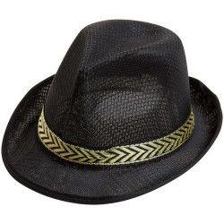 Chapeau borsalino noir Accessoires de fête 75871