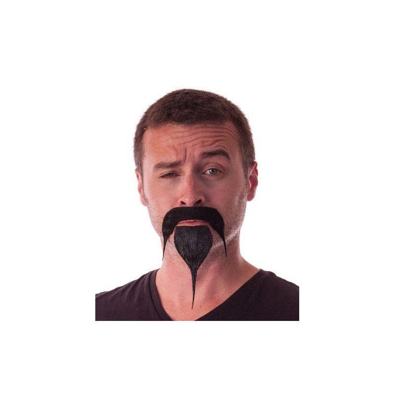 Moustache et bouc samourai noir Accessoires de fête 862210