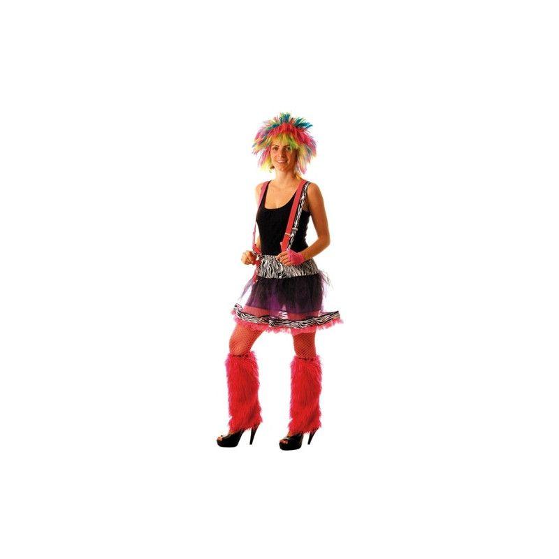 Accessoires de fête, Tutu zèbre adulte année 80, 86502140, 13,90€
