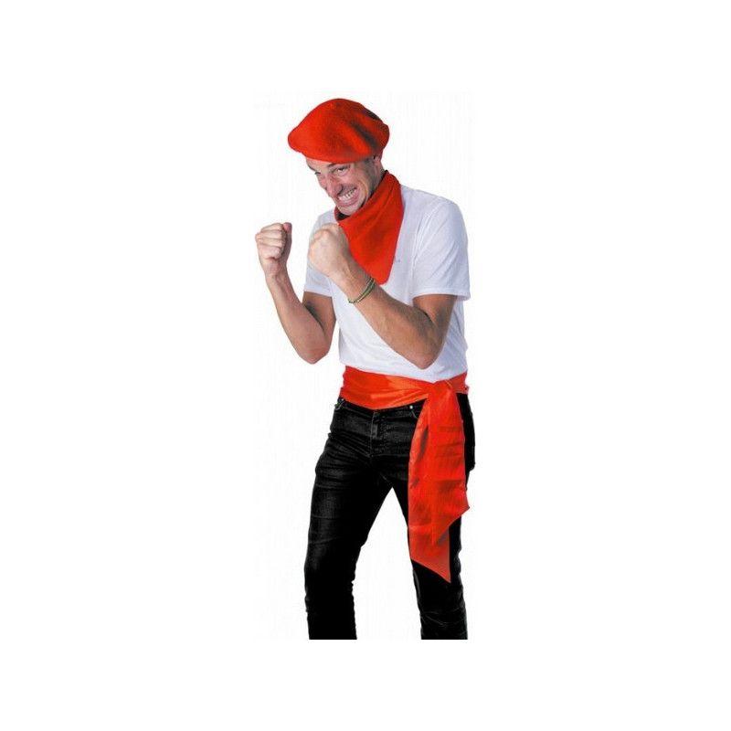 Ceinture feria satin rouge Accessoires de fête 865130