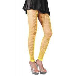 Legging résille jaune fluo Accessoires de fête 87270125