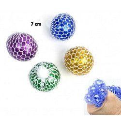 Balle cervelle glitter 7 cm vendue par 12 Jouets et kermesse 22757-LOT