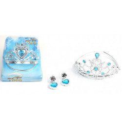 Diadème et boucles d'oreilles princesse bleues Jouets et articles kermesse 32008