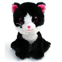 Peluche chat gros yeux 16 cm Jouets et kermesse 78976