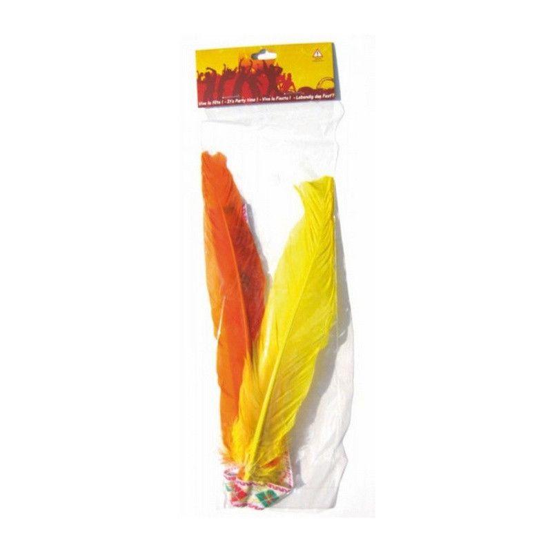 Accessoires de fête, Bandeau indien 2 plumes, 8522, 1,90€