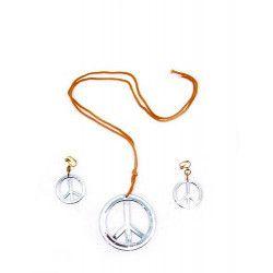 Accessoires de fête, Collier hippie et boucles d'oreilles, 8652993, 3,90€