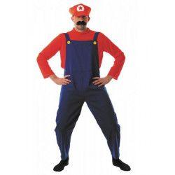Déguisement de plombier rouge et bleu homme M-L Déguisements 86550
