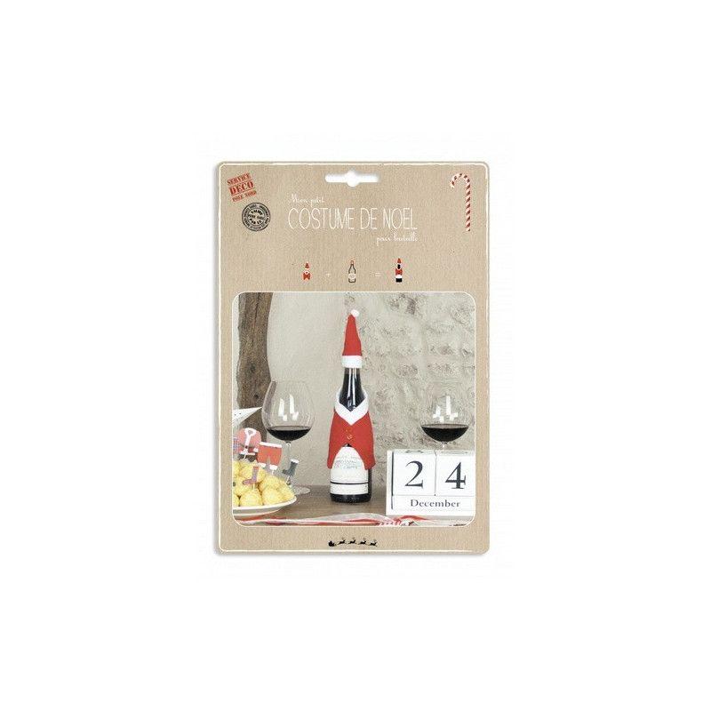Déguisement Noël pour bouteille Déco festive 90807