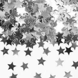 Confettis de table étoile argent Déco festive 05336