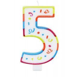 Bougie anniversaire chiffre 5 Déco festive 22925