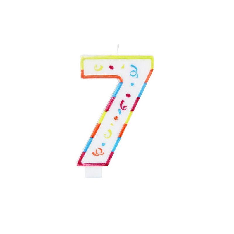 Bougie anniversaire chiffre 7 Déco festive 22927