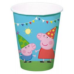 Gobelets en carton Peppa Pig™ x 8 Déco festive 24501