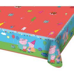 Déco festive, Nappe plastique Peppa Pig™ 180 cm, 24503, 3,95€