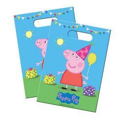 Sachets cadeaux Peppa Pig™ x 8 Déco festive 24504