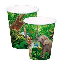 Déco festive, Gobelets carton Safari Party x 8, 62001, 2,49€