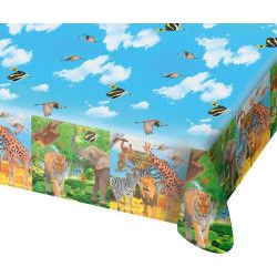 Déco festive, Nappe plastique Safari Party 180 cm, 62003, 3,48 €