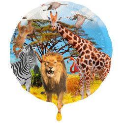 Ballon aluminium Safari Party 43 cm Déco festive 63106