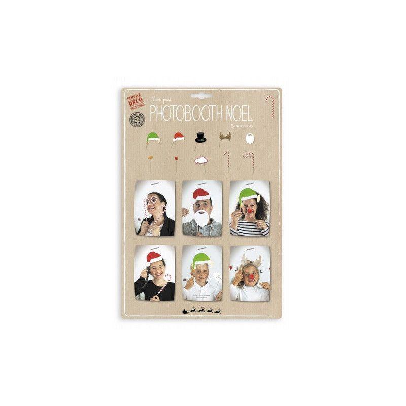 Déco festive, Set 10 accessoires photobooth Noël, 812905, 5,90€