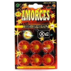 Blister amorces 8 coups x 12 Artifices 12006