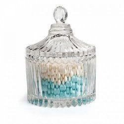 Bonbonnière à dragées vintage en verre Déco festive 15429