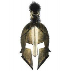 Casque romain doré avec crête Accessoires de fête 70915