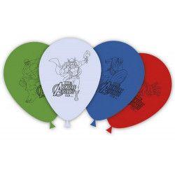 Ballons imprimés Avengers™ x 8 Déco festive LAVE84667