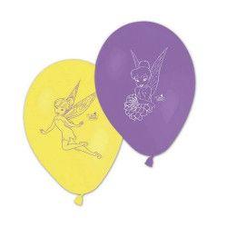 Ballon imprimés Fée Clochette™ x 8 Déco festive LFAI85274