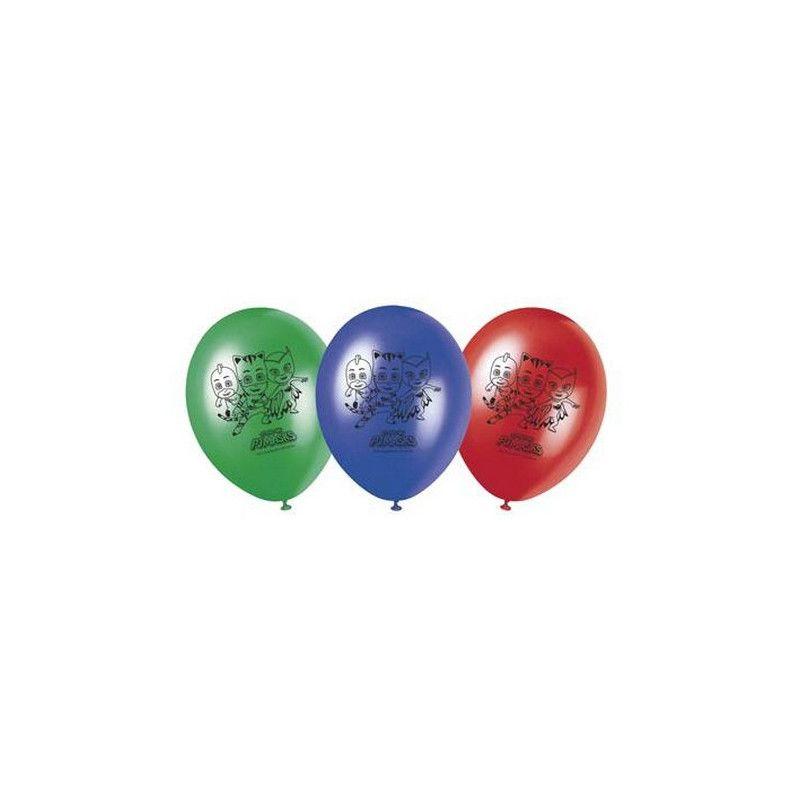 Ballon imprimés Pyjamasques x 8 Déco festive LPYJ88641