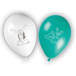 Ballons imprimés Vaiana™ x 8 Déco festive LVAI88188