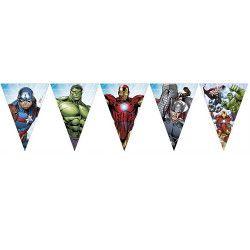 Déco festive, Guirlande fanions Avengers™, LAVE89480, 3,59€