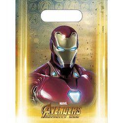 Sacs cadeaux Avengers Infinity War™ x 6 Déco festive LAVE89481