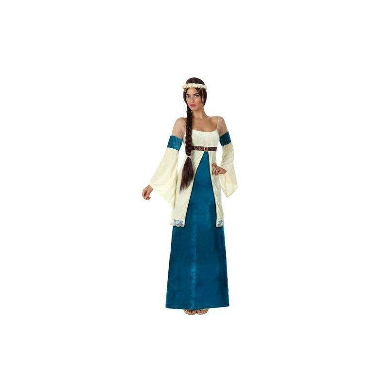 Déguisement dame médiévale bleue femme taille M-L Déguisements 15432