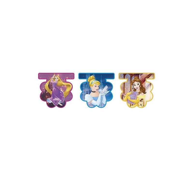 Guirlande fanions Princesses™ Déco festive LPRI87883