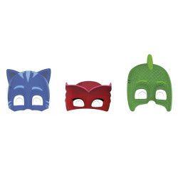 Masques Pyjamasques™ x 6 Accessoires de fête LPYJ89351