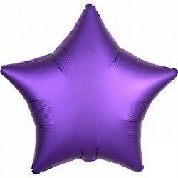 Ballon métallisé Satin Luxe Purple Royale étoile 43 cm Déco festive 3682001