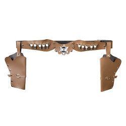 Accessoires de fête, Holster double shériff adulte, 583, 7,90€